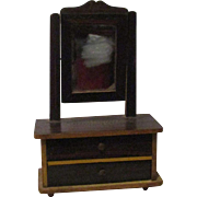 Vintage Doll Dresser With Real Mirror