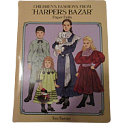 Children's Fashions From Harper's Bazar Paper Dolls By Tom Tierney.