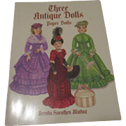 Three Antique Dolls Paper Doll Book By Brenda Mattox