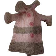 Pink and Brown Knitted Sweater For Your Doll.