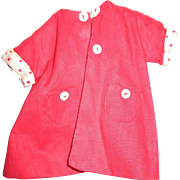 Vintage Red Button Coat For Your Doll