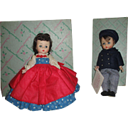 Vintage Madame Alexander Dolls - Alexander-Kins Jo and Laurie from Little Women.