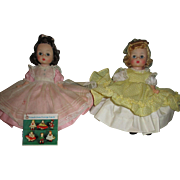 Vintage Madame Alexander Dolls - Alexander-Kins Beth and Amy from Little Women.
