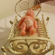 Beautiful doll house baby cradle