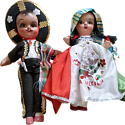 Vintage Composition Mexico Dolls