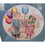 Vintage Needlepoint Circus Picture