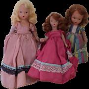 Vintage 3 Nancy Ann Storybook Dolls