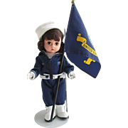 Vintage Madame Alexander Doll The U.S. Navy with the flag