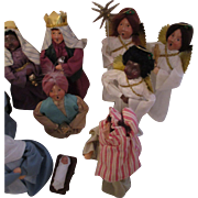 Byers Choice Nativity Set 12 Pieces - Dated 1989-1990