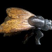 Cast Iron antique fly matchsafe