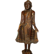 Sublime 19th century Thai gilt Buddha