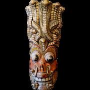 Old carved Naga Raksha ritual Southeast Asian cobra mask