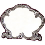 SALE Vanity Mirror Sterling Silver Antique Birmingham 1898