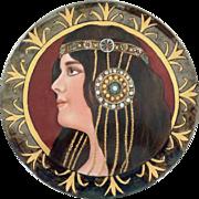 """Arts and Crafts Limoges Porcelain Platter Vintage 13.5"""" Tressemanes & Vogt"""