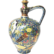 "Antique Large Water Jug ""Fischer J Budapest"" chinoiserie 13"" H"