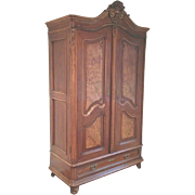 French Louis XV Armoire Provincial Style Late 19th C