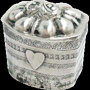 Antique Silver Snuff Scent Lodderein Pill Box Dutch