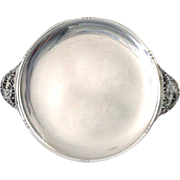 Mid Century Sterling Silver Tray Lily of the Valley handles Armand Guion 1950s