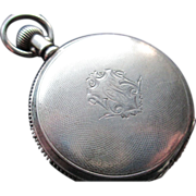 SOLD 1896-1897 Waltham Hunter Case Coin Silver Pocket Watch - Red Tag Sale Item