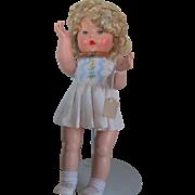 """1950s Rosebud Hard Plastic 15"""" Doll"""