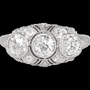 Elaborate 2.59ct t.w. Edwardian Old European Cut Diamond Filigree Anniversary Engagement Ring