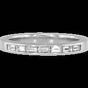 Estate .35ct t.w. Platinum Seven Stone Baguette Diamond Wedding Band