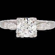 Beautiful 1.29ct t.w. Old European Cut Diamond Engagement Ring Platinum