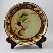Chestnuts and Gold Claire Plate Pickard Hand Painted Rosenthal Bavarian Porcelain
