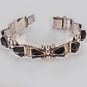 Sterling Bakelite  Bracelet Mexico Signed