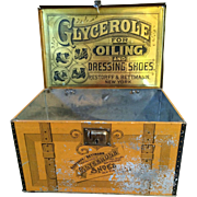 """Rare """"Glycerole for Oiling"""" Advertisement Tin"""