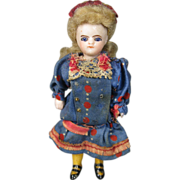 All Bisque French Type Mignonette Dollhouse Doll ~ All Original