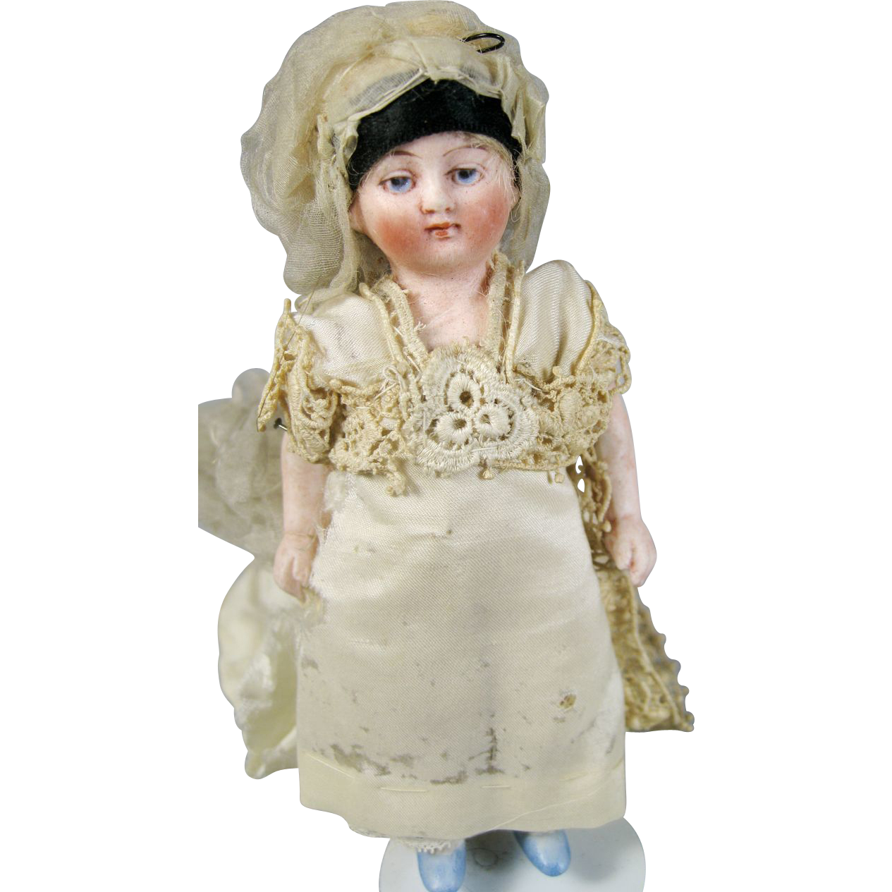 On Hold Antique All Bisque Bride Doll From Rubylane Sold
