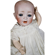 SOLD Adorable Antique German Bisque Head Hertal Schwab Baby Doll