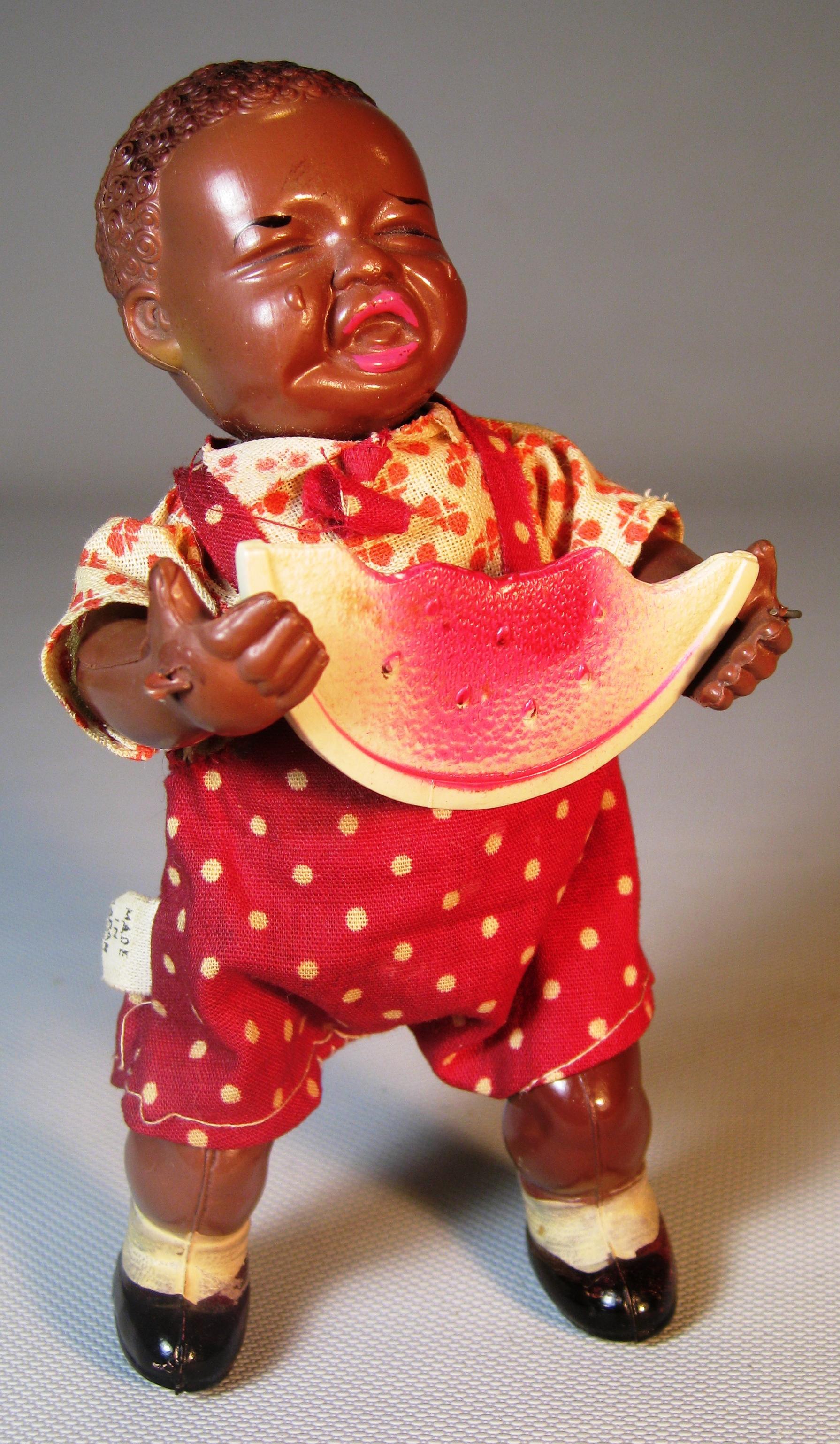 1930s Black Americana Wind Up Figurine Japanese Celluloid