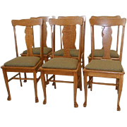 Oak Dining Chairs Set 6