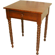 Cherry Stand Table with Jenny Lind Spool Turned Legs