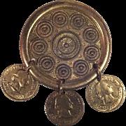 SALE George Washington 3 Coin Commemorative Buckle