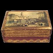 SALE Beautiful Florentia Hand Made Trinket Box