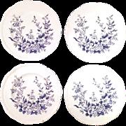 "REDUCED Set of 4 Alfred Meakin ""Garden Bounty"" Bread Plates"