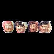 SALE Set of 4 Vintage Sailor Figurines With Wonderful Detailing