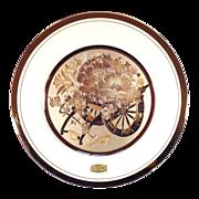 SALE Signed 18KT Gold Chokin Art Japanese Collectors Plate