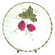 """SALE Early  """"Blue Ridge - Wild Strawberry"""" Dinner Plate by Southern Potteries"""
