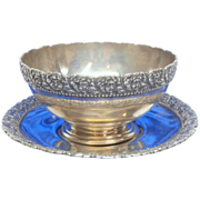 Tiffany & Co. Sterling Silver Youth Cherub Cup and Saucer