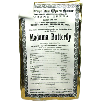 Fornasetti Madama Butterfly Ashtray Dish Plate Caruso Porcelain Antique 1175 B