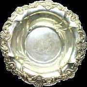 Gorham Serving Bowl 1894 Sterling Silver Art Nouveau Repousse Antique 1307 L