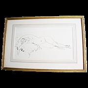 SALE Walt Kuhn Pen Ink Nude Drawing