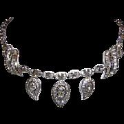 Kramer High End Decadent Diamond Look Dangling Remarkable Rhinestone Necklace