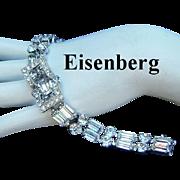 Eisenberg Exquisite Buckle Design Rarely Seen Rhinestone Bracelet