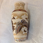 Satsuma Vase with Butterflies, Enameled Decoration