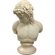 SOLD Porcelain Young Male Bust 19th C.